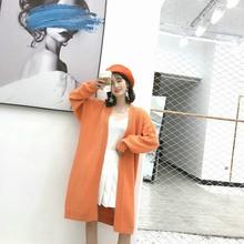 中长款慵懒风针织衫2019秋冬季韩版色显瘦开衫蝙蝠衫厚毛衣外套