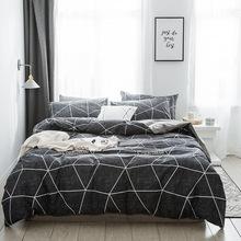 2019新款全棉簡約四件套1.8m2.0x2.2床被套床單床上用品家紡批發