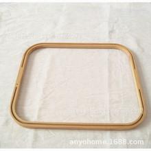 厂家直销批发异形竹圈竹框竹圈洗衣篮竹筐  提手收纳袋配件竹圈