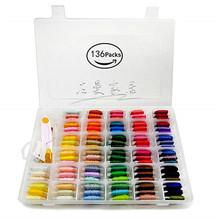 亚马逊爆款十字绣线盒套装 100色线刺绣线工具套装 DMC绣线盒装