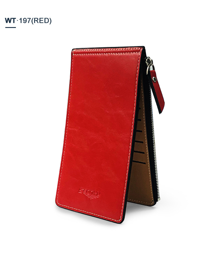 New zipper long wallet ladies coin purse fashion multi-card position PU wallet mobile phone bag new wallet wholesale nihaojewelry NHBN222077