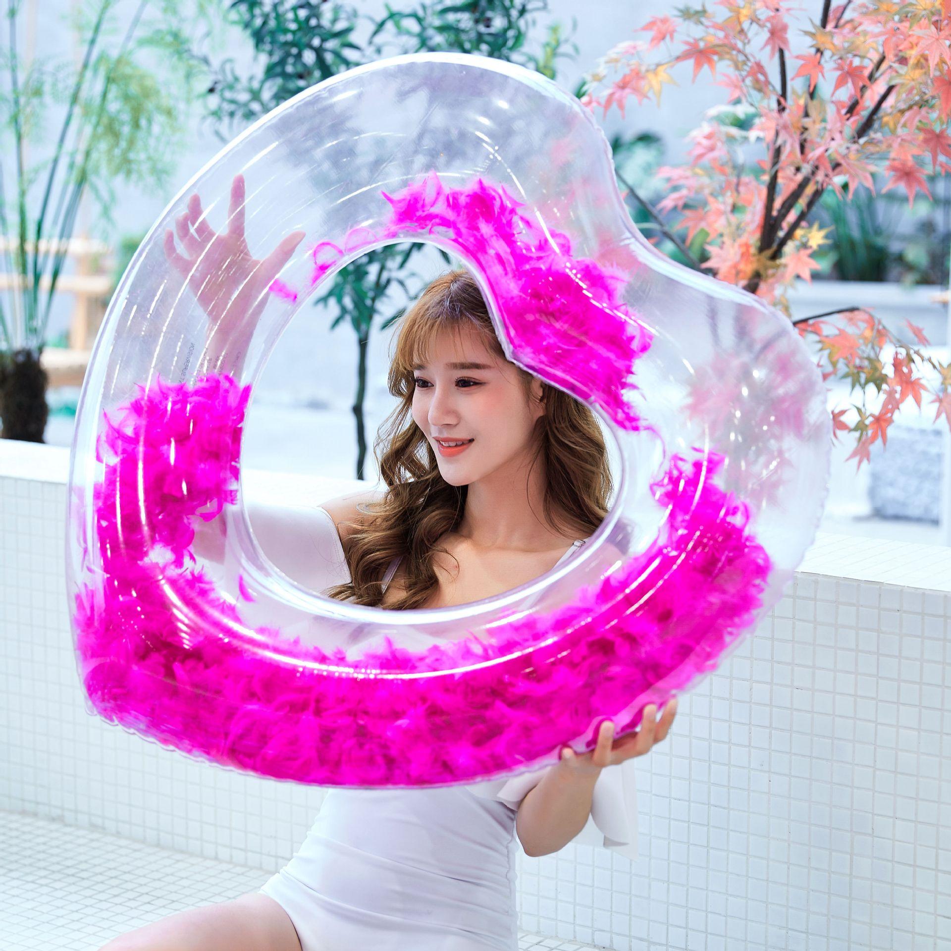 Explosion models full transparent swim ring sequins transparent swimming ring NHWW130946