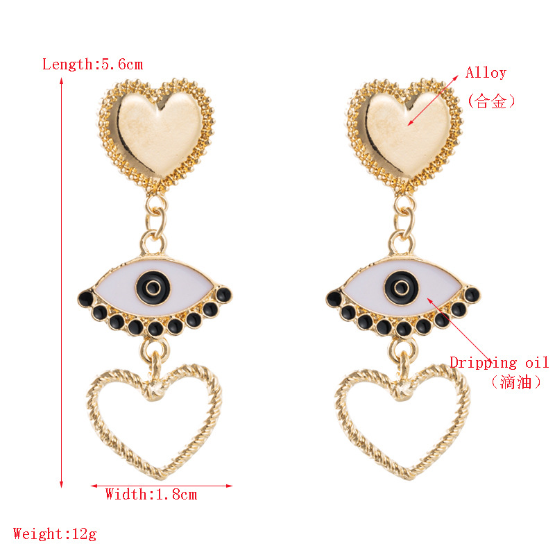 Fashion Eye Earrings Popular Creative Alloy Retro Christmas NHLN171451