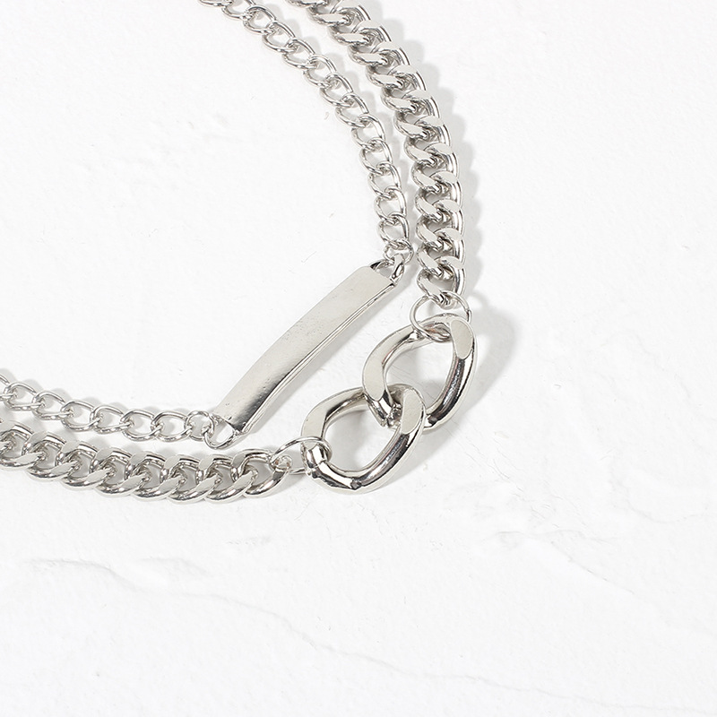 Hot selling fashion double  women's necklace wholesale NHRN254697