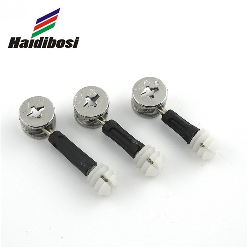 厂家直销三合一连接件家具五金三合一偏心轮连接件镀镍铸铁连接件