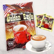 俄罗斯原装进口经典速溶三合一咖啡1000克/袋50小包大鹰咖啡