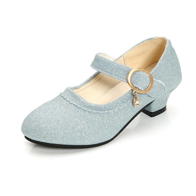 Mùa xuân và mùa thu cô gái mới giày cao gót nhỏ đơn tinh thể khiêu vũ công chúa trình diễn đôi giày cô bé cho thấy đôi giày trẻ em lớn Giày công chúa