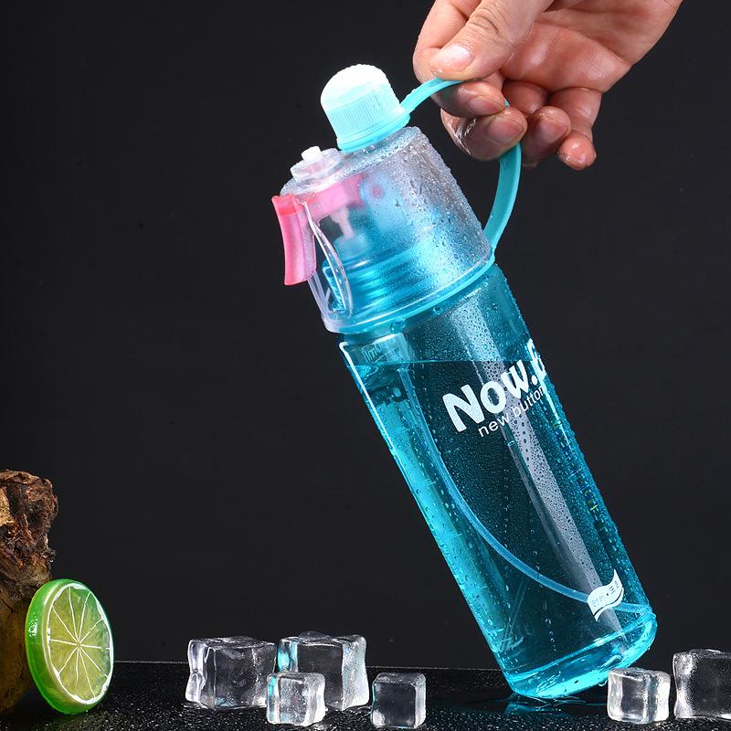 كأس البلاستيك الإبداعية الرياضة في الهواء الطلق رذاذ كوب كوب ماء الأطفال جيل من غلايات هدية أكواب شعار مخصصة