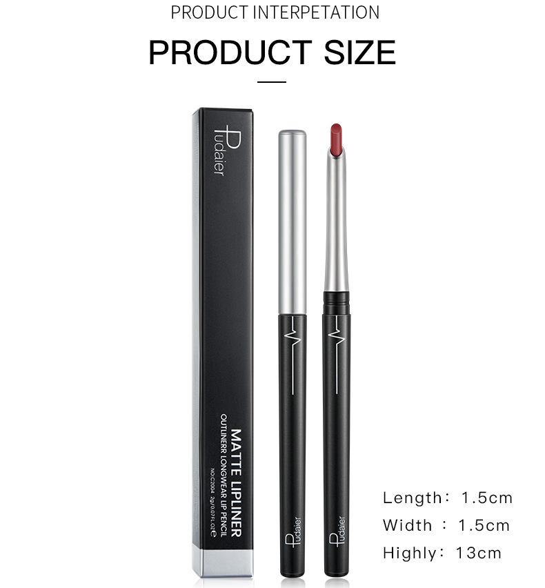 matte 17 color lip liner non-marking eye shadow eyeliner lipstick