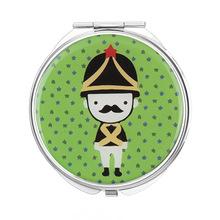 多色卡通士兵滴胶定制圆形双面折叠镜 随身携带小镜子 HQCM592266
