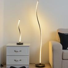 硅胶卧书桌简约现代ins少女个性创意北欧网红LED台灯落地灯
