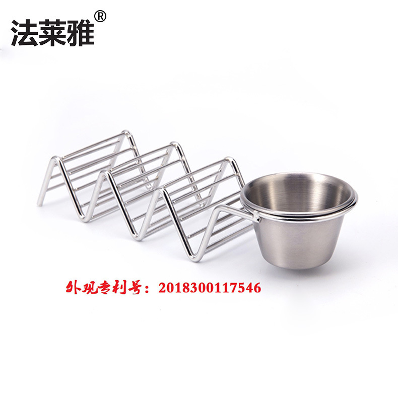 304 stainless steel originality Mexico Pizza taco holder stainless steel Food shelf Amazon Specifically for