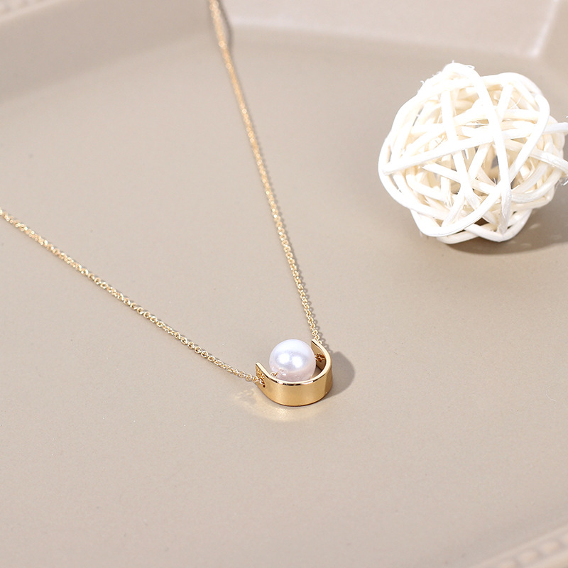 new fashion hot-selling pearl necklace clavicle chain for women NHRN260822