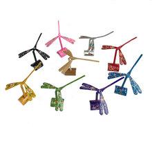 平衡竹蜻蜓擺件懸浮木質創意禮品竹制手工藝裝飾DIY玩具平衡鳥