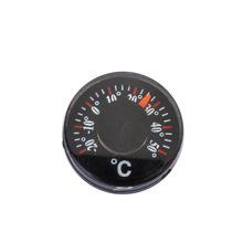 专业厂家供应外径20mm圆形温度计 双金属塑料温度计