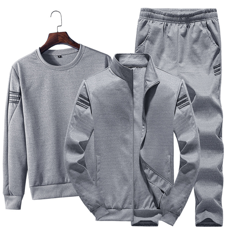 Autumn and Winter New Three-pole Sweater Suit Men's Casual Sports Suit