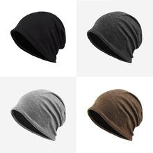 帽子男春秋冬天潮薄款套头帽女化疗帽时尚防风寒产后保暖月子帽
