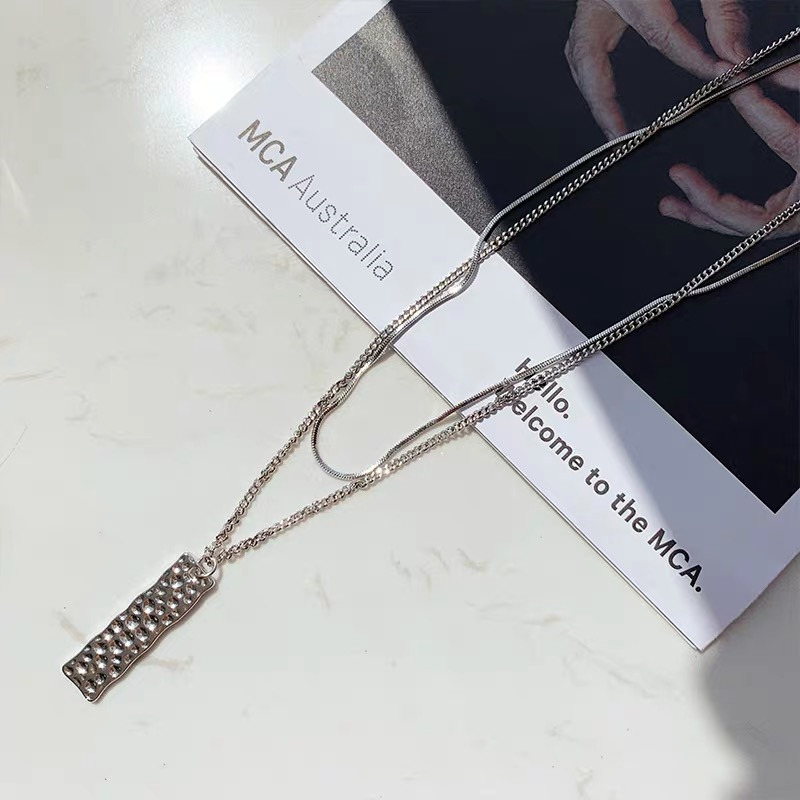Clavicle chain women's simple long strip double layered necklace wholesales fashion NHYQ183696