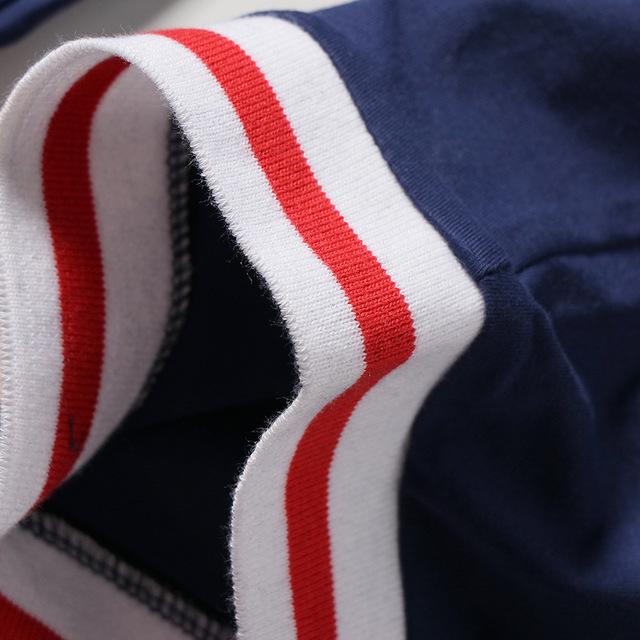 032009 mùa xuân mới giản dị lỏng lẻo đơn giản cơ bản phần cổ tròn in chữ trẻ em tay áo ngắn hai mảnh Bộ đồ trẻ em