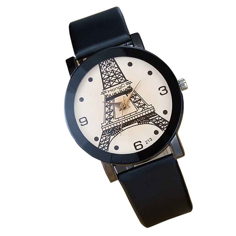 Hong C213 Paris Tower Fashion Hot Couples Watch Europe And The United States Popular Trend Boys And Girls Student Watch