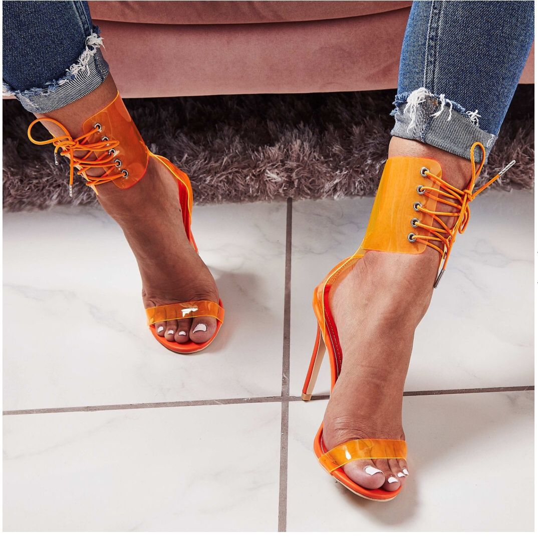 fashion sexy transparent lace sexy sandals NHHU307546