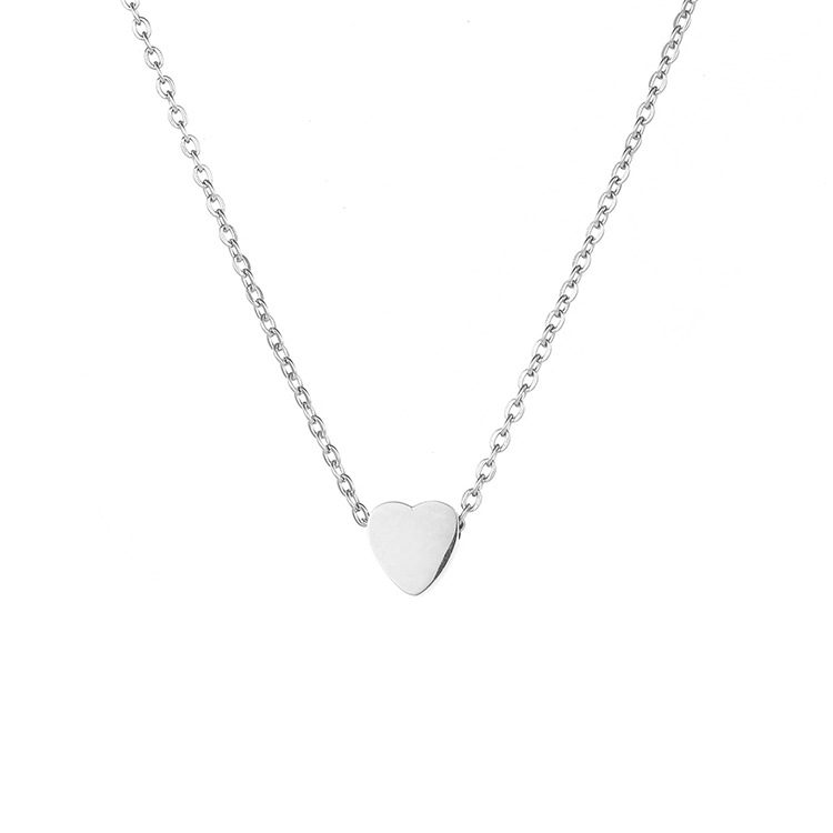 316L fashion love necklace ladies stainless steel short clavicle chain necklace NHTF175336