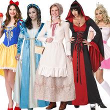 萬圣節服裝成人童話故事 白雪公主裙 灰姑娘兒童愛麗絲女傭女仆裝