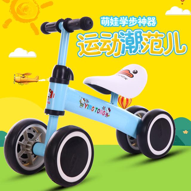 Nhà máy tặng quà trực tiếp cho trẻ em xe bốn bánh cân bằng xe trượt không có bàn đạp xe tay ga đồ chơi xe ô tô 1-3 tuổi Xe đạp