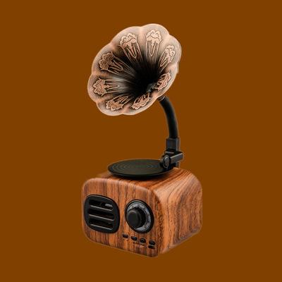 生日经典复古文艺木质留声机唱片机同学迷你蓝牙音箱创意外贸礼品真诚