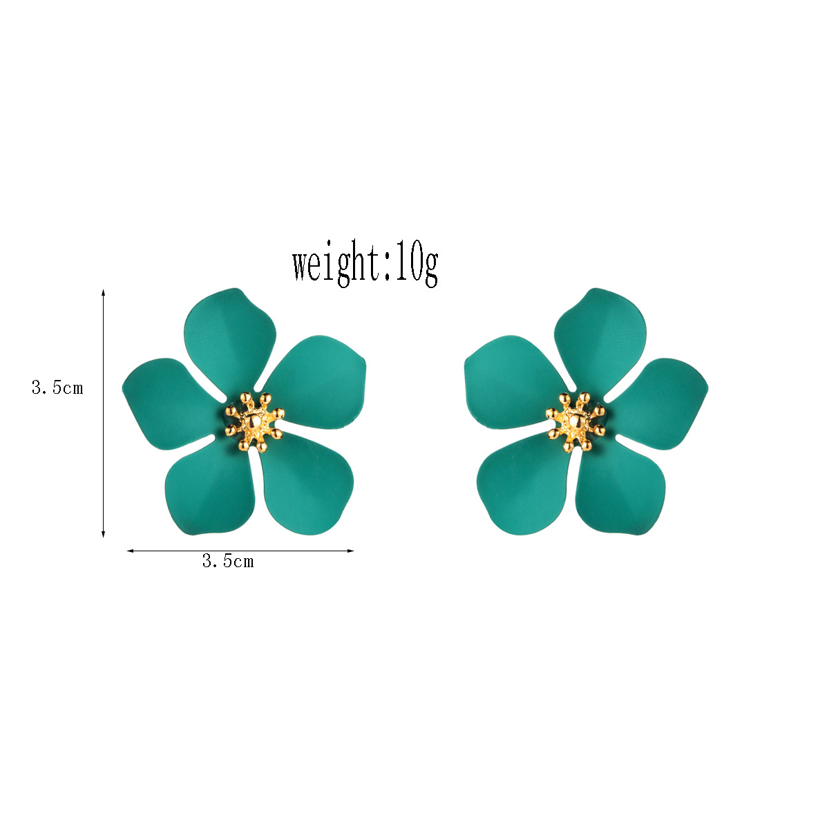 Fashion paint flower alloy stud earrings NHLN143524