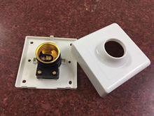LED灯泡塑料加厚底座86型E27螺口灯头插座明装吸顶式螺旋节能灯座