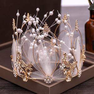 Hairpin hair clip hair accessories for women Mother jewelry pearl whole circle Crown Princess Birthday crown gift mother jewelry