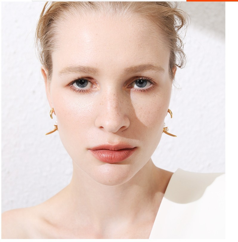 Pearl rose thorn pearl earrings personalized fashion wild earrings NHYQ191072