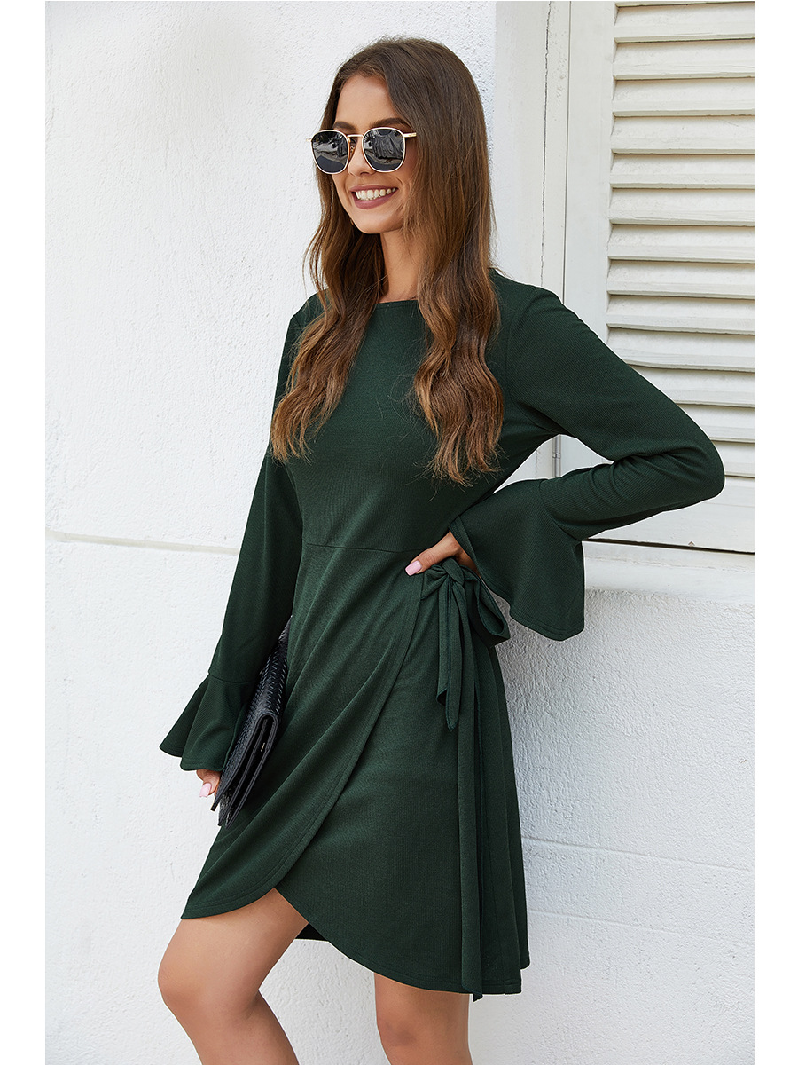 autumn and winter sweater sexy solid color dress wholesale NSAL2063