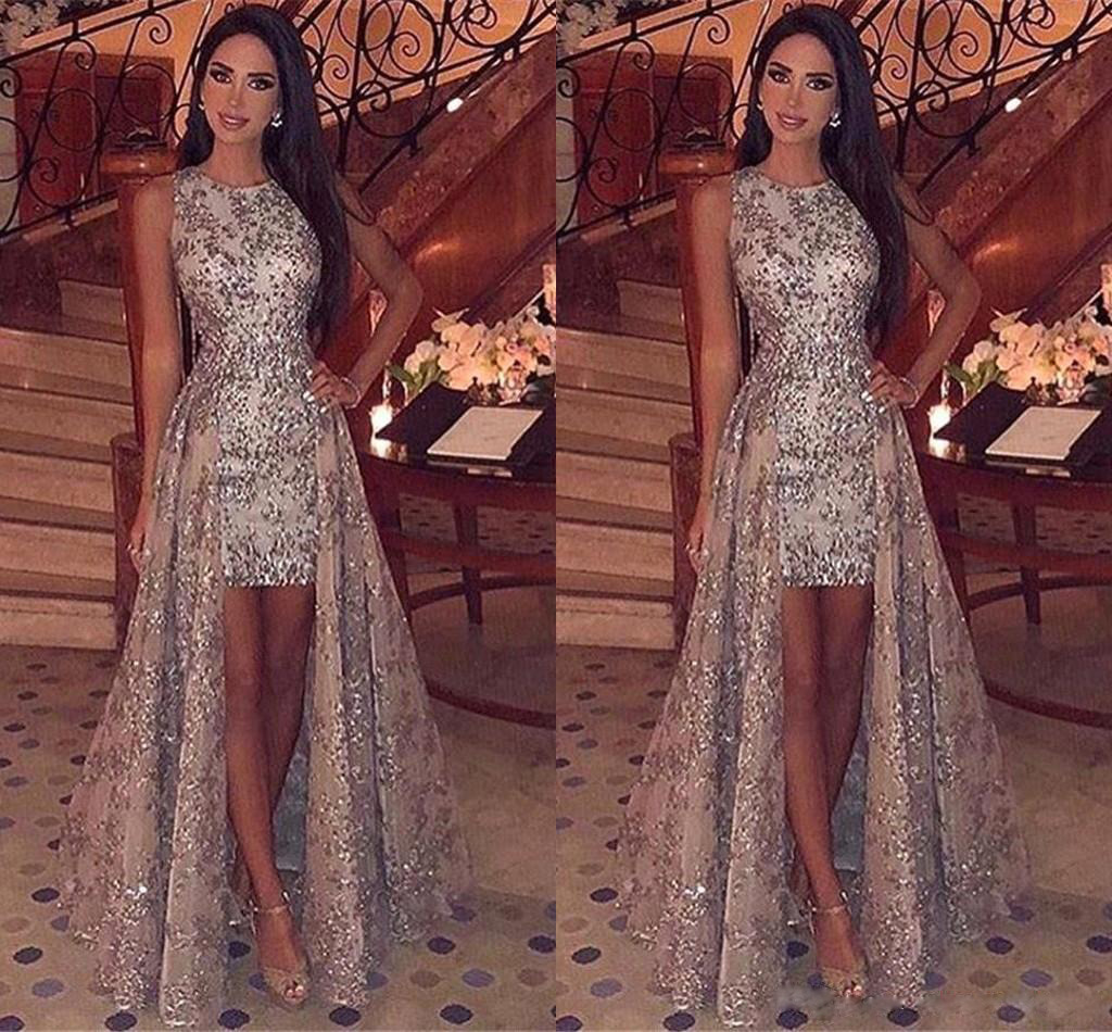Autumn and winter 2020 new European and American foreign trade women's dress Amazon round neck sleeveless Sequin dress new party dress
