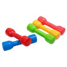 睿远幼儿园哑铃儿童舞蹈体操训练器械彩色摇摆有声环保塑料小哑铃