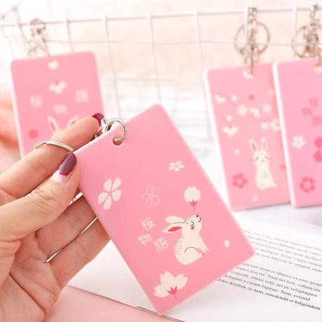 2425 dễ thương thỏ móc chìa khóa các tài liệu truy cập thẻ thẻ bộ thẻ xe buýt sinh viên sáng tạo bữa ăn thẻ ngân hàng Trường hợp