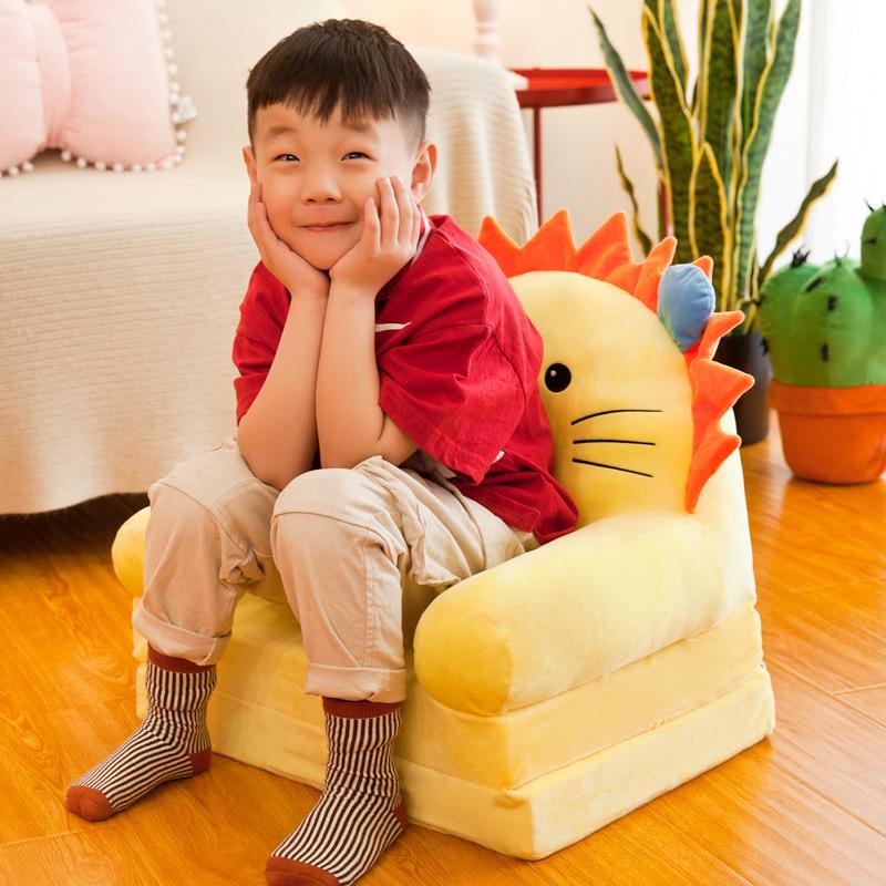儿童幼儿园卡通小沙发宝宝学坐座椅懒人沙发折叠男帅童坐凳可软体