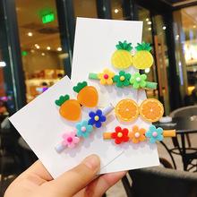 包邮 韩版泫雅风少女清新花朵发夹2件组合童趣可爱糖果色水果bb夹