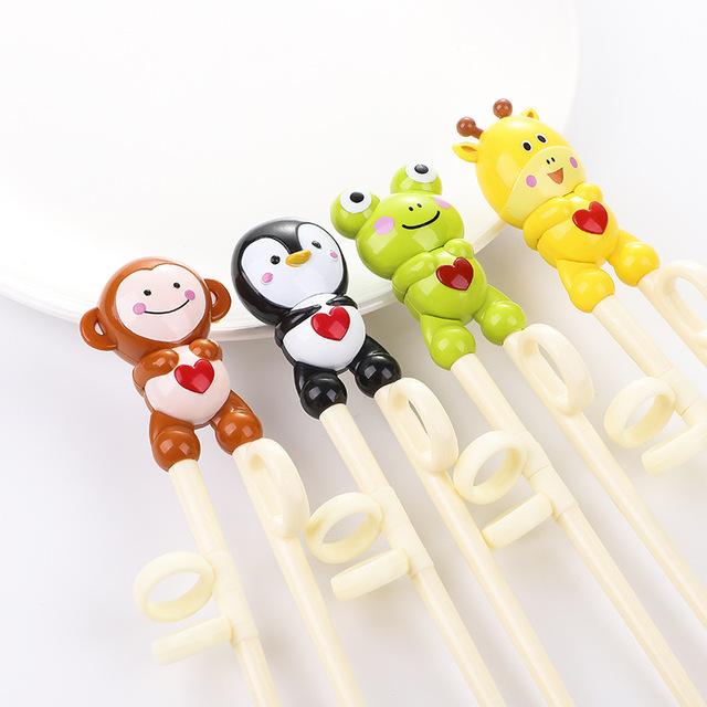 2019儿童筷子训练筷小孩餐具筷子宝宝吃饭学习练习筷幼儿家用PP筷