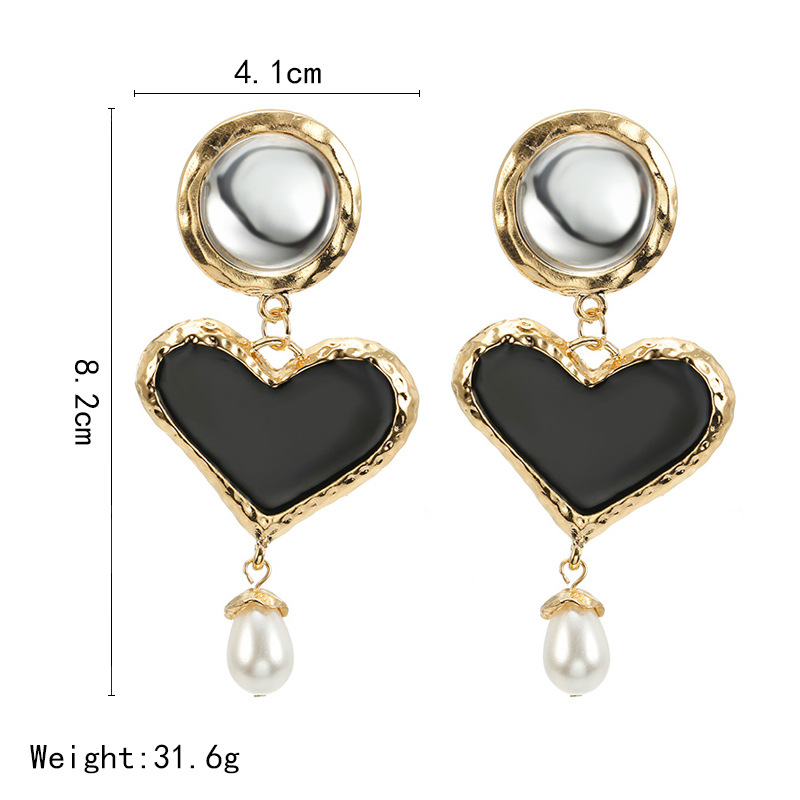 Fashion Alloy Geometric Round Heart Earrings NHPF151942