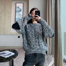 特色袖口 2019年秋季新款拉链拼接设计欧美针织衫 yuan版1w+购入