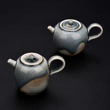 手工原礦粗陶過濾茶壺陶瓷手抓柴燒壺手拉胚功夫茶具泡茶壺分茶器