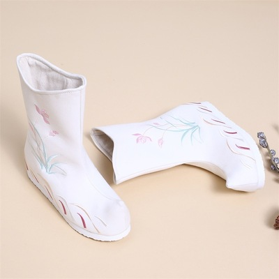 children Han Dynasty chinese hanfu shoes cashmere hanfu kimono fairy princess dress performance dance embroidered boots for women