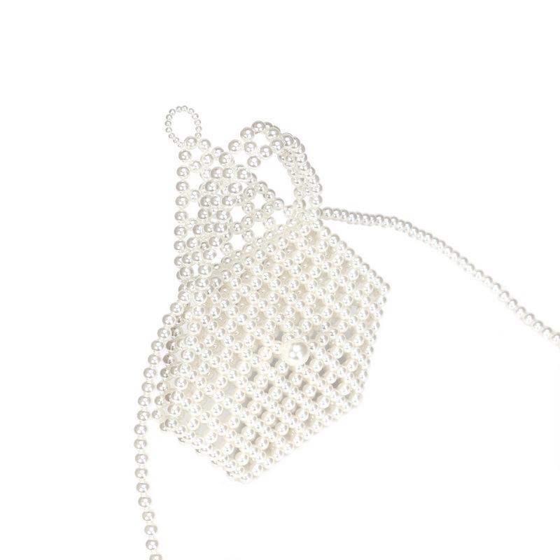 new pearl bag hand-woven bag portable messenger bag mobile phone bag wholesale nihaojewelry NHYM234716