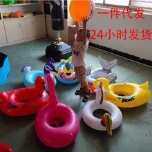 工厂现货直销  PVC充气儿童水上坐骑泳圈 儿童卡通水上游泳用品