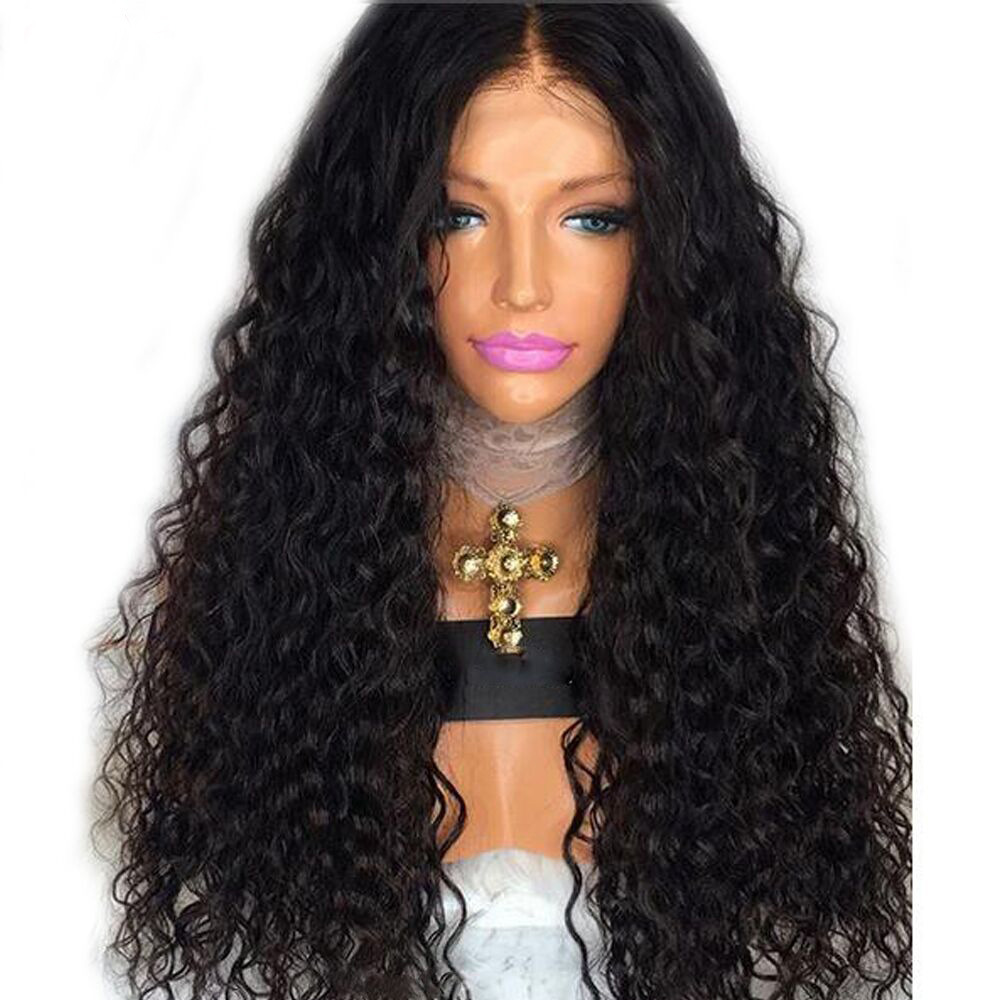 Cross-border European And American Ms. Black Isolated Bangs Long Small Volume Fluffy Africa Wig Corn Black Hot Volume