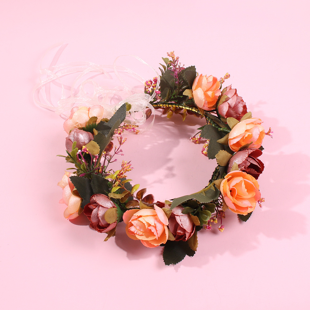 Hot sale bride wreath flower hair accessories wedding photography hair hoop NHMD185008