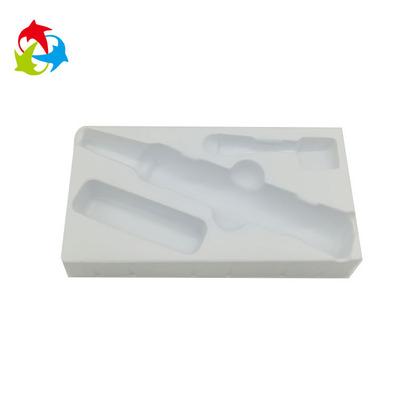 专业定制高档礼盒吸塑内托内衬   白色PS化妆品吸塑托盘