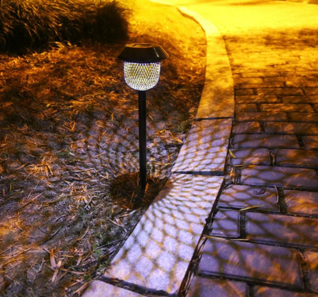 室外照明灯太阳能灯仿古帽子网状地插灯套六装(太阳能草坪灯)